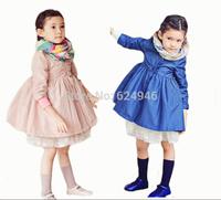 2014 Spring new Korean cotton lace woven girls windbreaker jacket