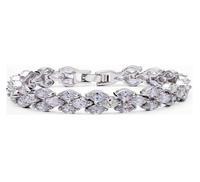 AAA cubic zircon charm bracelet for women birthday gift for wife 18k white gold plated bohemia bracelets & bangles M314