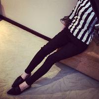 Fashion patchwork lace legging pencil pants ankle length trousers skinny pants 5 Size leggings