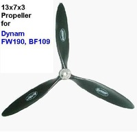 Free Shipping RC Warbird Part 13*7*3 3-Blade Propeller for Dynam FW190 and BF109
