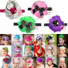 Children Christmas Gift Baby Girls Hairbands Children Hair Bands Beautiful Feather Headband(China (Mainland))