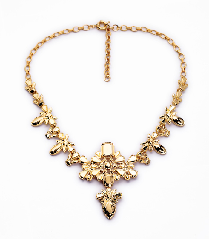 new design fashion jewelry plated gold color alloy pendant statement