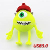 New USB 3.0 Pen Drive USB Stick Memory Flash USB Flash Cartoon Monster University Mike 8gb 16gb 32gb 64gb free shipping