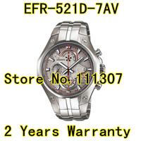 EFR-521D-7AV New  EFR-521D-7A EFR 521D men's sport chronograph wristwatch white dial gent wristwatch
