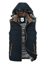 Men Vest Hoody Mens Waistcoat Fishing Sleeveless Jacket Winter Clothing Hombres Chaleco Colete de homem Casual Brand Hooded Vest(China (Mainland))