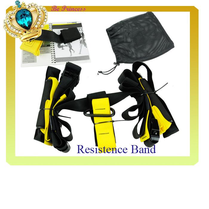 Hot Selling 2014 sport equipment Training Fitness Equipment Spring Exerciser Hanging Belt Resistance Set cm12309(China (Mainland))
