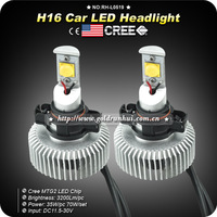 1Set 70W 3200LM X2 6500K H16 CREE MTG2 Chip Auto Car LED Headlight DRL Fog Lamps