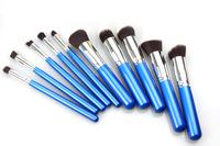 Hot Quality 10 pcs Professional Makeup Brush Set Facial Eyeshadow Brush Make-up Tools Soft Synthetic, Free shipping