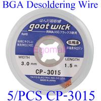 5 pcs/lot The Best BGA Desoldering Wire CP-3015 3.0mm x 1.5m Goot Wick / Soldering Accessory D37