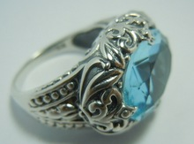 Fashion wind restoring ancient ways is the ancient silver classic decorative pattern The romantic marriage ring