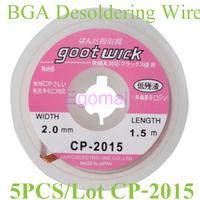 5 pcs/lot The Best BGA Desoldering Wire CP-2015 2.0mm x 1.5m Goot Wick / Soldering Accessory D39