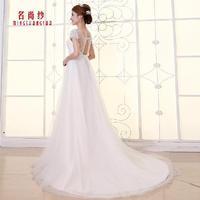Fashionable Autumn Sexy Cutout Double Shoulder Lace wedding dress 2014 White vestido de noiva wedding dresses bridal gown W99