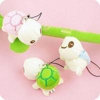 Hot selling plush toys pendant 7cm small turtle plush phone pendant chain promotional gift bag pendant