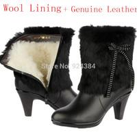 bottes femmes 2014 genuine leather womans boots ,australian boots wool Lining winter shoes woman emu  women ladies boots  casad