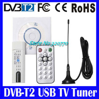 10Pcs/lot! Digital USB2.0 DAB FM DVB-T DVB-T2 DVB-T DVB-C VHF-/UHF MPEG-2/-4 H.264 TV Tuner/Receiver/Dongle/Stick+Remote+Antenna