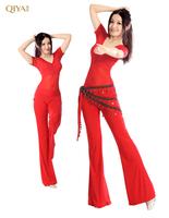 2014 New Belly Dance Costume  Mesh Cotton Spandex Belly Dance Practice Suit,9 Colours