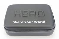 F09707 M Size Shockproof Waterproof Hard Case Storage Box Camera Bag 23*17*7CM for GoPro HD Hero 3+ 3 2 1 + Freeship
