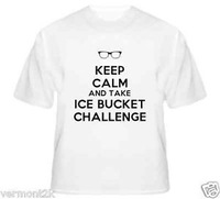 WHOLESALE 2014 NEW 10PCS A LOT KEEP CALM TAKE ICE BUCKET CHALLENGE CHARITY FUNDRAISER DONATION S-3XL T-SHIRT 4COLORS SPORT COAT