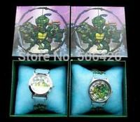 Lots 2Pcs Teenage Mutant Ninja Turtles Kids Cartoon watches With Gift Box Wholesale and Free shipping