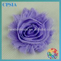 Vintage Chiffon Lavender Flowers Hair Decorative  Shabby Flowers For Baby Headhband 240pcs/lot