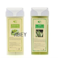 Safety Aloe/Green Tea Rolling Roll On Depilatory Wax Cartridge Roller Body Hair Removal Waxing Accessary Taste Send Random 100g