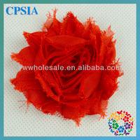 Free shipping High quality 2.3'' Chiffon chic shabby frayed chiffon flowers for headband240pcs/lot