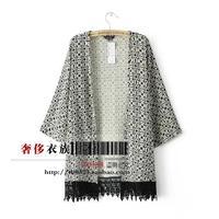 Free shipping Fashion Follows Nature AS House Vintage Loose Large Size Lace Three Quarter Sleeve Open Stitch Women Coat Jacket