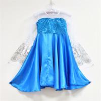 New snow frozen Romance veil princess dress Girls Dresses