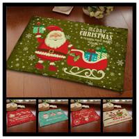 Bed Rushed Freeshipping Machine Made Door Bathroom Carpet 2014 Hot Christmas Holiday Mats Non-slip European Carpet Doormat Gift