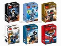 60PCS Classic Figures Decool 0169-174 superhero minifigures TASKMASTER RED SKULL Building block toys Educational bricks figure