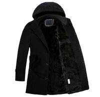 2014 New Winter Authentic Coats Men'S Wool Coat Long Section Thick Plus Velvet Super Warm Men'S Brand Coat Men's Clothing XG-165