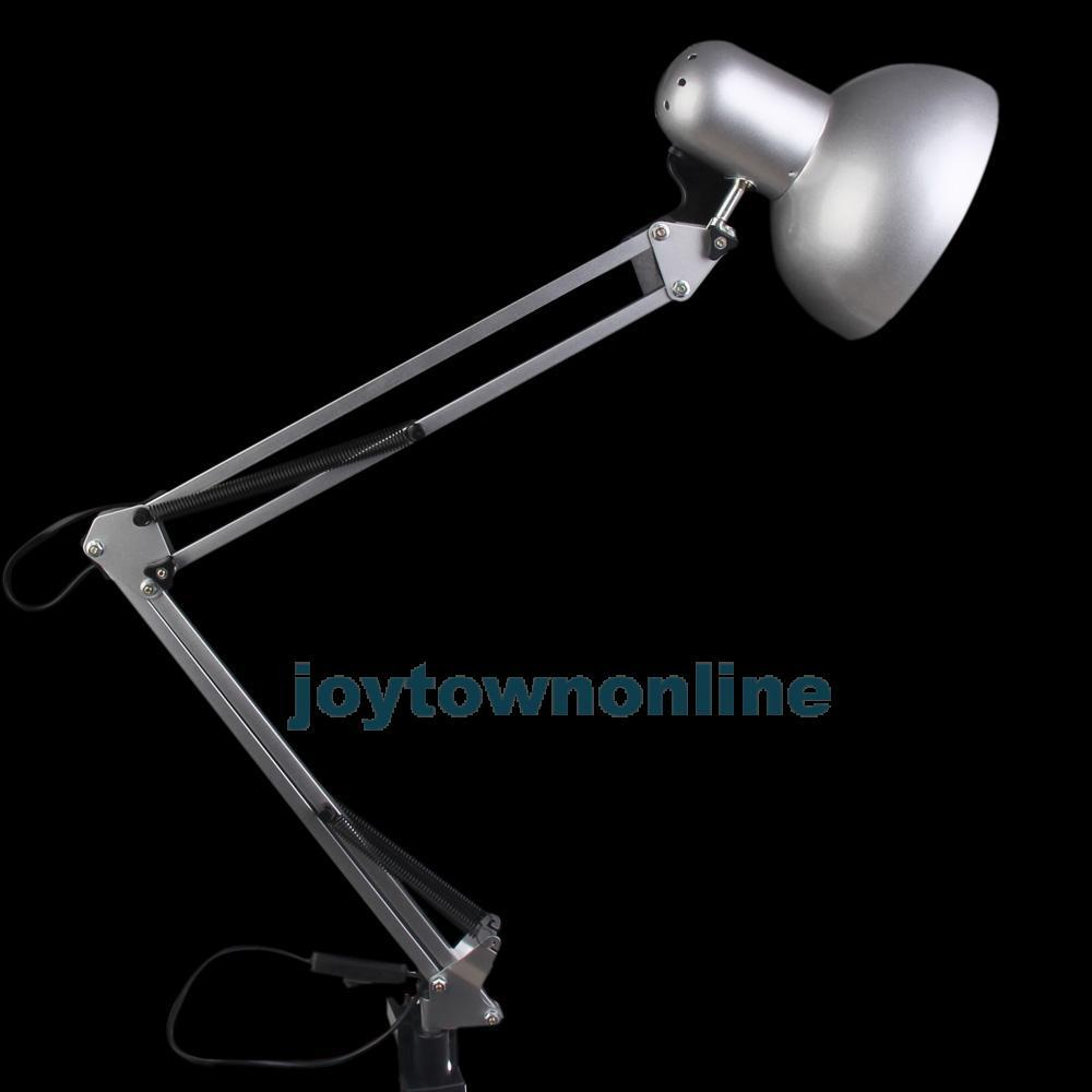 Swing Arm Drafting Light Desk Adjustable Height Light Home Office Silver #1JT(China (Mainland))