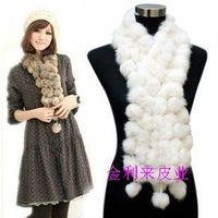 2013 winter rabbit skin scarf rabbit fur thermal muffler scarf women's all-match chromophous