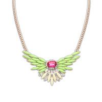 2014 new Women Big imitation Gem LUXURY crystal pendant Ladies chunky Necklace