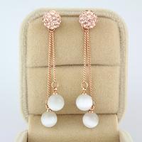 Fashion exquisite 2014 - eye drop earring 18k rose gold pendant stud earring long earrings