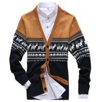 New arrival autumn winter V-neck cardigan for men slim hot men's sweater