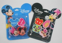Cute Mickey Minnie Mouse Cartoon Design Small Erasers Eraser 4pcs/pack