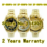 New Gold EF-550FG-5AV MEN'S WATCH EF-550FG-7AV EF-550FG-1AV With 1/1 second