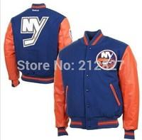 Free shipping NHL New York Islanders stitched hockey jacket  good quality