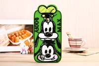 100PCS/LOT 3D Cartoon Cute Graffiti Minnie Mickey Duck Dog chip Soft Silicone Cover For Samsung Galaxy S4 I9500 Back Case