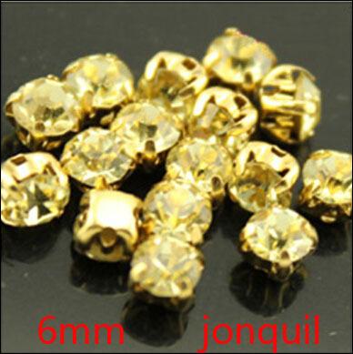 2014 Limited Sale Rhinestone Chain free Shipping 288pcs 6mm Sew On Jonqiul Crystal Rhinestones Diamond Flatback Craft Dress Make(China (Mainland))