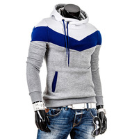 Sports Suit 2014 Autumn Winter New Hoodies Men Sportswear Fashion Stripes with Hood Coat Men's Connor for Mens free Shipping