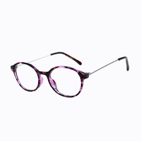 Top Quality Women Retro Round Eyewear Frames,Elegant No Diopter Lenses Glasses,Large Size Alloy Plain Glass Spectacles G335