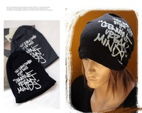 2013 Fashion Korean Hip-Hop Winter Hat Letters Knitting Caps Fashion Beanie Headwear 4 Colors HTZZM-008