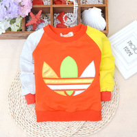 Free shipping 2014 autumn Korean version of the male baby  Children spell color sweater