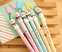 12 pcs/lot New Cute Cartoon  Sunny Doll Gel Pen Set Kawaii Korean Stationery Creative Gift School Supplies Free shipping