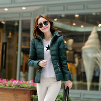 women winter clothes 2014 New Acrylic Fabric Long-sleeved thick Luxury winter short paragraph Hooded cotton jacket