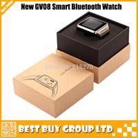 2014 Newest GV08 Bluetooth Smart Watch Sync Smartwatch WristWatch Wrist Wrap Watch GV08 Phone Watch for Anroid Free Shipping