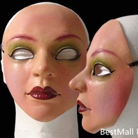 New Female mask latex silicone realistic masks Halloween silicone dance party masquerade masks cosplay  new 2014