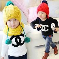 2014 autumn Baby cotton T shirt  Bottoming shirt Letter fashion Long Sleeve Top Boys Girls Korean casual clothes Brand LOGO